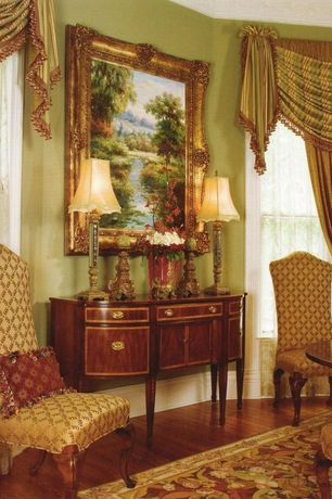 Traditional Dining Room with Hardwood floors