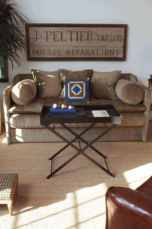 Cottage Living Room with Carpet, High ceiling, Safavieh Ainsley Tray Table