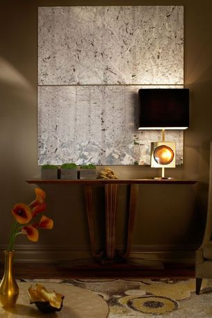 Contemporary Living Room with Willy daro agate and brass table lamp, Light souce ink kub table lamp