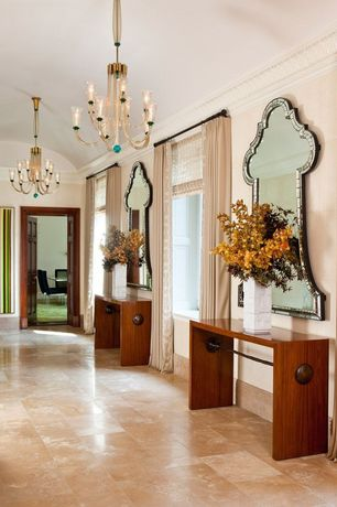 Transitional Hallway with Classic lighting palermo 8 light chandelier, Chandelier, Elegant lighting antique wall mirror