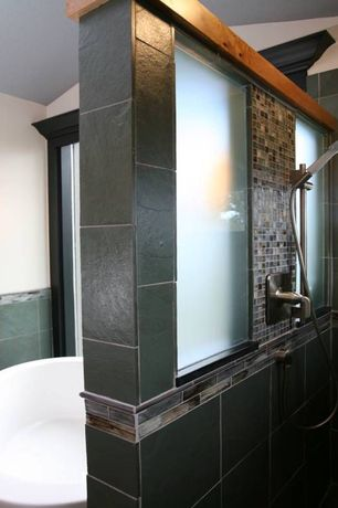 Contemporary Master Bathroom with Handheld showerhead, High ceiling, Master bathroom, Tabasco with Glass 1 x 1 in
