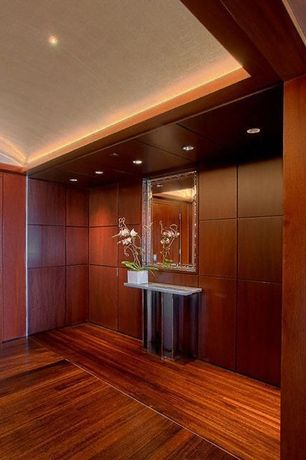 Contemporary Entryway with Laminate floors