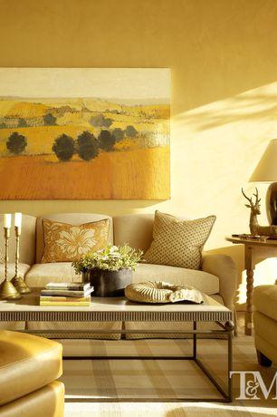 Contemporary Living Room with High ceiling, Carpet