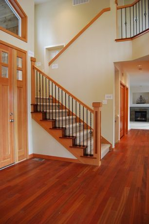 Craftsman Entryway with Hardwood floors, Cole & Grey Urban Trends Anywhere Wall D?cor, Glass panel door, Loft