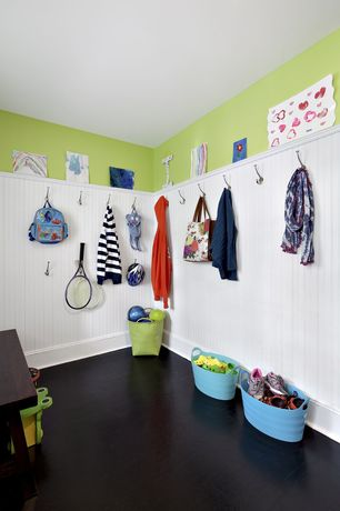 Contemporary Mud Room with PurBead 47.76-in x 7.98-ft Single Bead Hardboard Wall Panel, Concrete floors