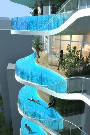 Modern Swimming Pool with Pools & Spas