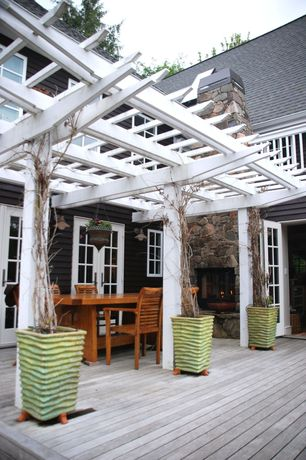 Traditional Deck with Trellis, French doors, Casement