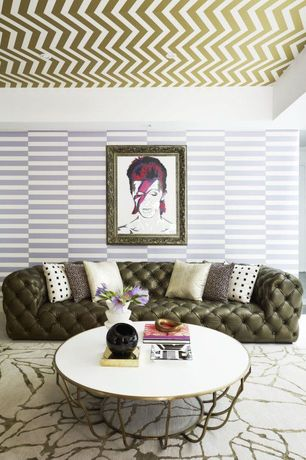 Contemporary Living Room with Burke decor - zee gold removable wallpaper, Paint, interior wallpaper