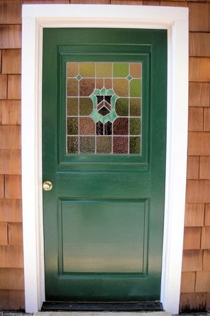 Traditional Front Door with Glass panel door