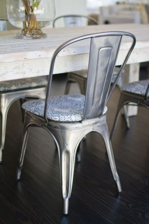 Contemporary Dining Room with Distressed table, Remy side chair