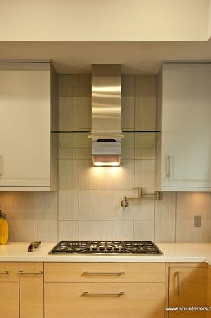 Modern Kitchen with Dupont corian arctic ice