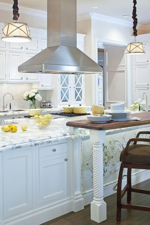 Traditional Kitchen with Glass panel, Undermount sink, can lights, electric cooktop, Standard height, Framed Partial Panel