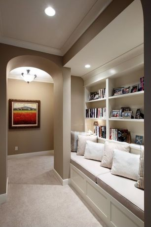 Contemporary Hallway with Paint, Craftmade oiled bronze 2 light semi flush ceiling fixture