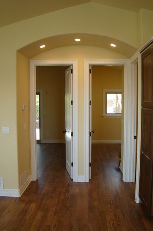 Traditional Hallway with Paint, Oak - Saddle 2 1/4 in. Solid Hardwood Strip