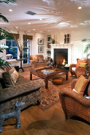 Traditional Living Room with Honey Catalina All-Weather Wicker Tub Chair, Signature Designs by Ashley Darcy Salsa Arm Chair