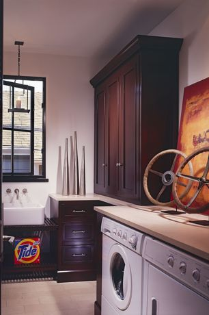Tropical Laundry Room with Frigidaire Affinity 3.26 Cu. Ft. Front Load Washer, MS International Quartz Sahara Beige