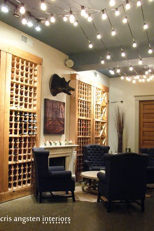 Traditional Wine Cellar with Build in wine racks, Paint