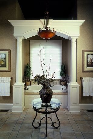 Traditional Master Bathroom with Master bathroom, Pendant light, High ceiling, Columns