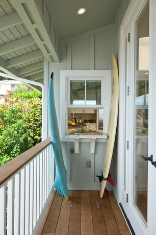 Tropical Deck with double-hung window, Deck Railing, French doors