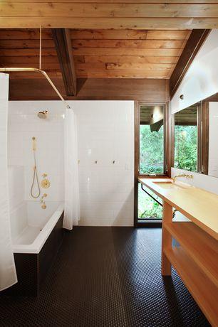Contemporary Full Bathroom with curtain showerdoor, Undermount sink, Wall Tiles, Full Bath, tiled wall showerbath, Shower