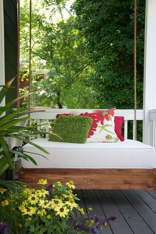 Cottage Porch with Porch swing, Wrap around porch