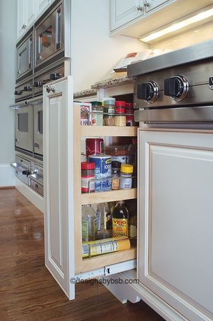 Traditional Kitchen with Custom Service Hardware Soft-Close Base Cabinet Pullout, Pantry pullout