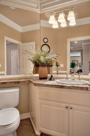 Traditional Full Bathroom with Inset cabinets, Crown molding, Signature Hardware Calrissian Widespread Bathroom Faucet