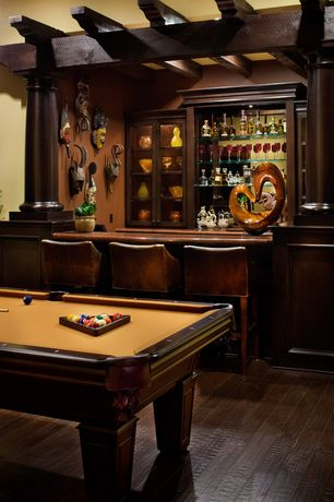 Traditional Game Room with Hardwood floors