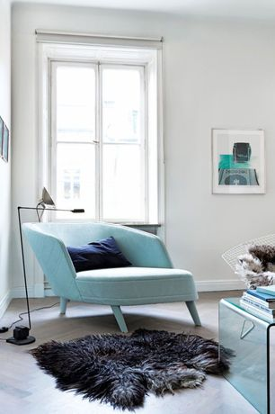 Contemporary Living Room with herringbone tile floors, Furnillion Creative Line Strada Coffee Table, Area rug