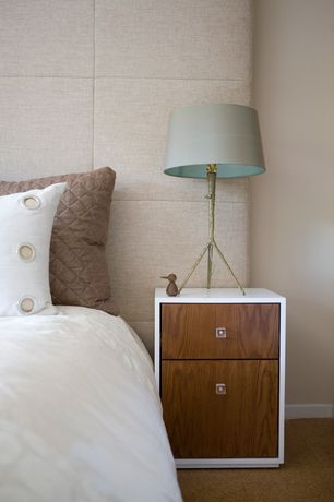 Contemporary Guest Bedroom with Standard height, Carpet