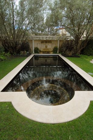Traditional Swimming Pool with Trellis, Raised beds