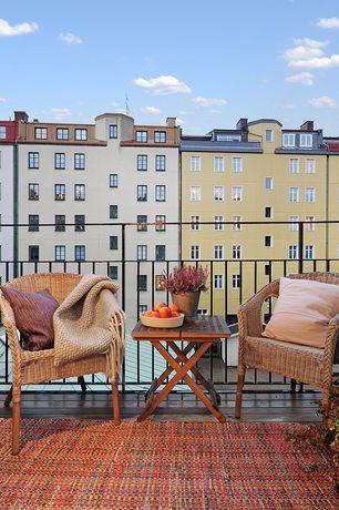 Eclectic Deck with Casement, Deck Railing