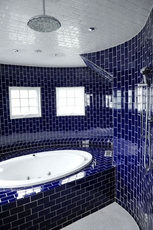 Eclectic Master Bathroom with Casement, can lights, Standard height, Hand shower, Wall Tiles, Shower, Master bathroom