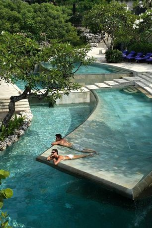 Contemporary Swimming Pool with Other Pool Type, Pathway, Bali, exterior stone floors