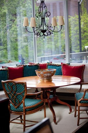 Traditional Dining Room with Madison park linen with jute trim square or oblong down fill pillows
