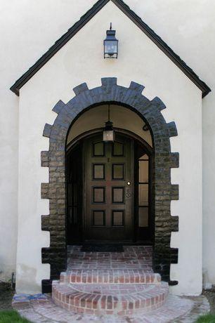 Traditional Front Door with exterior brick floors, Pathway