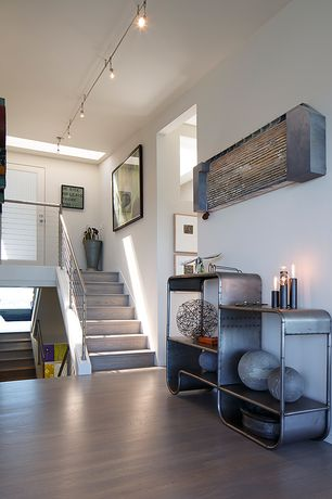 Modern Entryway with Eccentric metal console table, Carlisle studio collection back bay