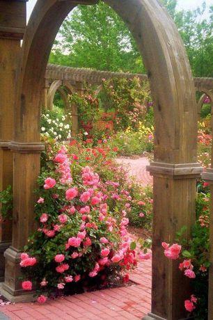 Rustic Landscape/Yard with Garden, Pathway, Trellis