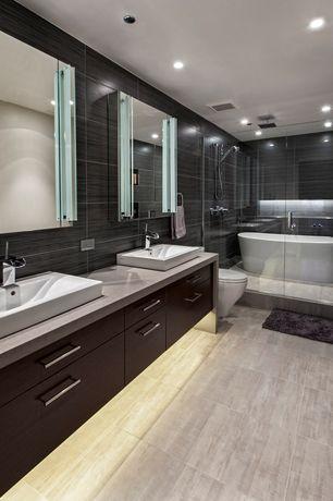 Contemporary Master Bathroom with European Cabinets, Master bathroom, Rain shower, Summit horizontal cabinet door style