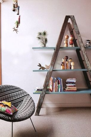 Eclectic Kids Bedroom with Paint, Apex ladder shelf