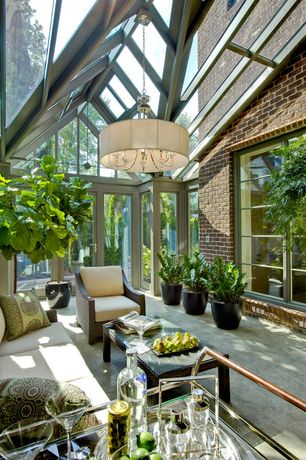 Patio with exterior stone floors, Restoration Hardware LA JOLLA COLLECTION, Outdoor living room, Skylight, French doors