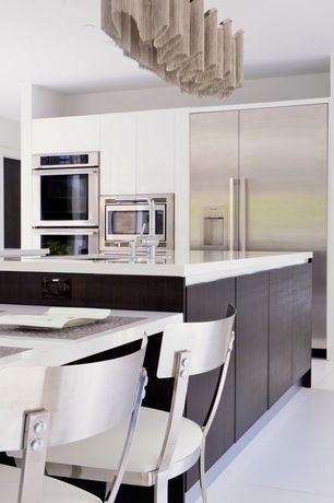 Contemporary Kitchen with Alston Melanie Side Chair Set of 2, One-wall, Ultracraft Destiny Seneca Cabinet, Undermount sink
