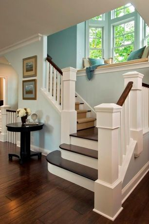 Traditional Staircase with Hardwood floors, Bay window, Window seat, High ceiling, Noir Park End Table