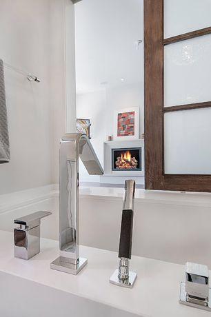 Contemporary Master Bathroom with Shoji door, SpectraFire Builder's 36 in. Vent-Free Electric Firebox Insert, Master bathroom