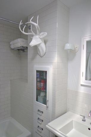 Traditional Full Bathroom with Paint 1, American olean starting line white gloss ceramic wall tile