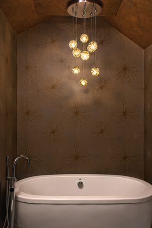Contemporary Master Bathroom with ET2 Larmes E20515 9-Light LED Pendant Polished Chrome, Paint 1