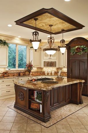 Kitchen with Kitchen island, Flat panel cabinets, Euro Design Build Remodel Custom Cabinetry, Pendant light, Undermount sink