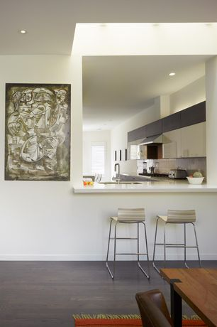 Contemporary Kitchen with 2 in. Solid Surface Countertop in Glacier White