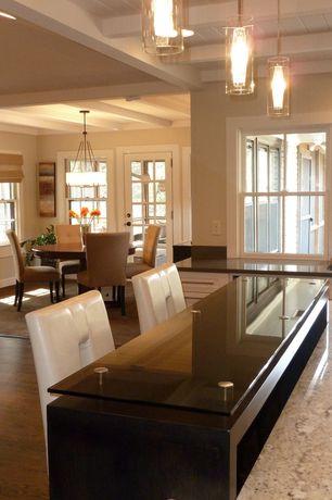 Contemporary Kitchen with Pendant light, Exposed beam, Lbl lighting top-si coax 1 light mini pendant, Simple granite counters