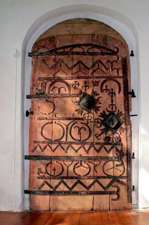 Eclectic Front Door with Barn door